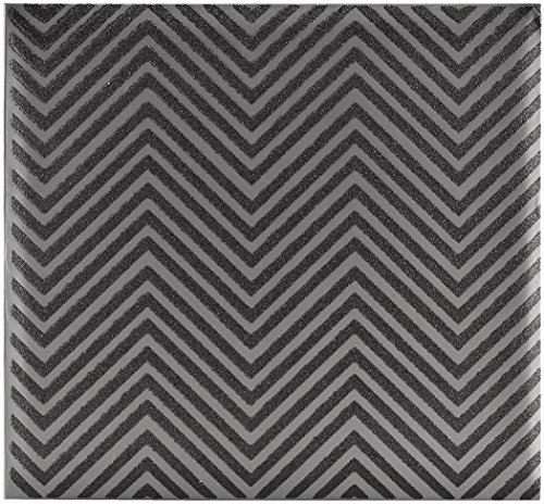 MCS MBI 13.5x12.5 Inch Chevron Black Glitter Scrapbook Album with 12x12 Inch Pages (860130)
