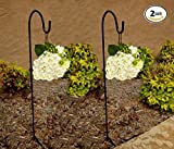 #5: Ashman Black Shepherd Hook 48 Inch, 10MM Thick, Super Strong, Rust Resistant Steel Hook Ideal For Use at Weddings, Hanging Plant Baskets, Solar Lights, Lanterns, Bird Feeders, Insect Repellents & More