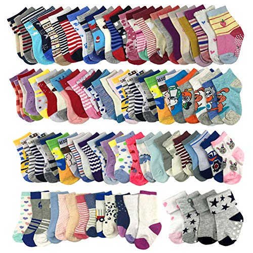 20 Pairs Wholesale Baby Cotton Socks for Boys 1-4T (Wholesale Baby Socks)