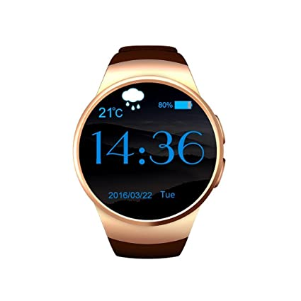 Skysea Bluetooth Smart Watch for Android Smart Mobile Phone Wrist Watch Watches For iOS iPhone Samsung LG Watch for bussiness Men Women (Gold)