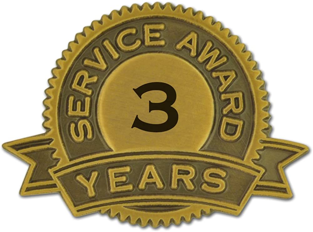 PinMart 3 Beauty products Years of Max 77% OFF Pin Award Lapel Service