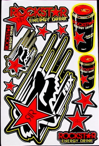 1 sheet motocross stickers R8red Energy Drink Graphic promotion Stiker Bike Scooter Decal great gift bikeworld