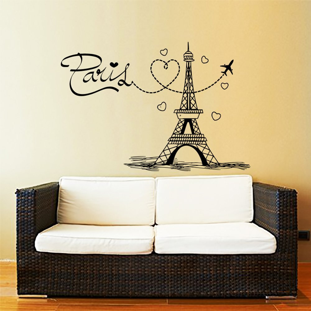 Amazon.com: Eiffel Tower Wall Decal Vinyl Stickers Decals Art Home ...