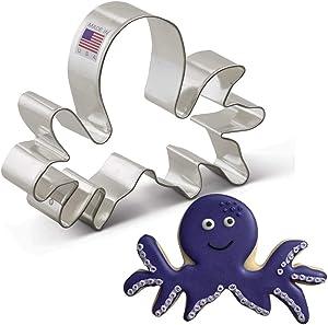 Ann Clark Cookie Cutters Octopus Cookie Cutter, 5.25