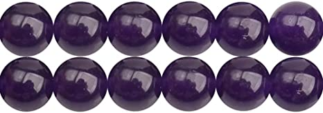 8mm 6 Dark Purple Glitter Beads