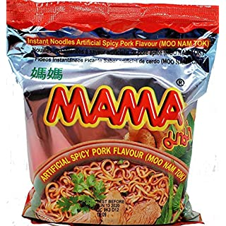 MAMA Ramen Style Instant Oriental Noodles Spicy Pork Flavor 10 Pack