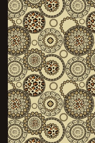 Journal: Animal Print Mandala 6x9 - DOT JOURNAL - Journal with dotted pages (Mandala Design Dot Journal Series)