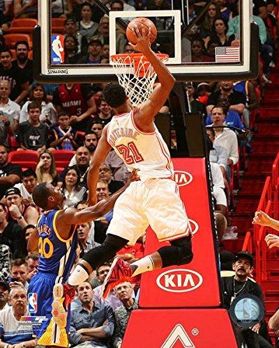 (Hassan Whiteside Miami Heat NBA Action Photo (Size: 8