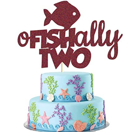Surprising O Fish Ally Two Cake Topper Gone Fishing Second Birthday Cake Funny Birthday Cards Online Eattedamsfinfo