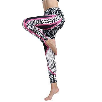 Ruikey Pantalones De Yoga Elásticos Impresión Leggings Yoga ...