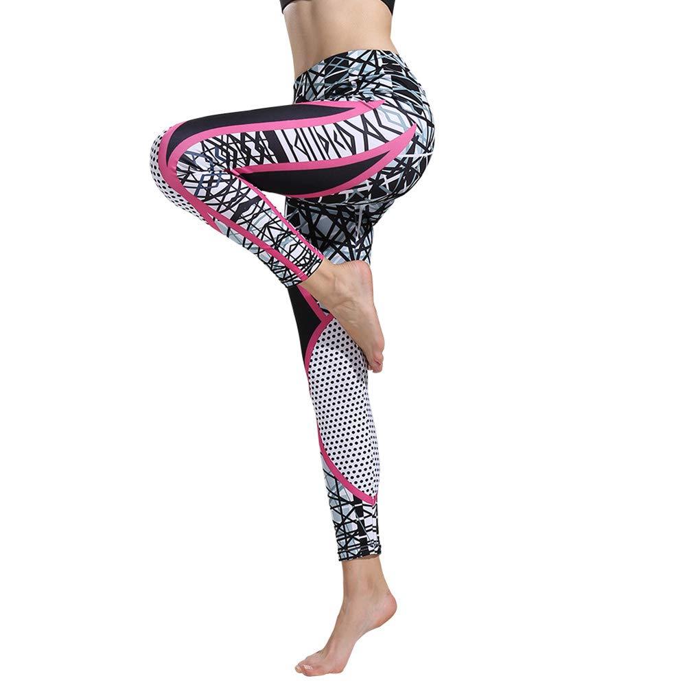 Leisial Pantalones de Fitness Cintura Altura - Pantalones de ...