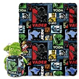 Lucas Star Wars, Yoda Story Hugger and Fleece Throw Blanket Set, 40'' x 50''