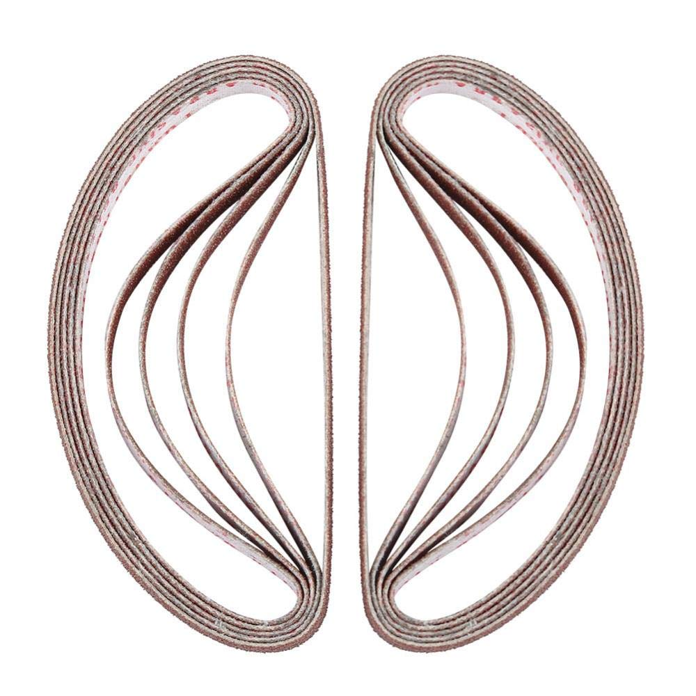 Largeur 0.63cm Longueur de Rouleau 22cm 100Pcs Ponceuse Bandes Abrasives Ceinture Abrasive Ceinture de Pon/çage Courroie Abrasive pour Machines /à Bande