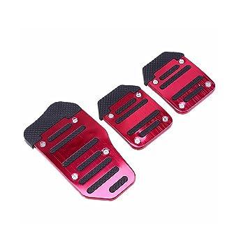 3 UNIDS Coche Antideslizante Acelerador de Embrague de Freno Manual Pedal Pedal Pad Pad Set Conjunto Freno de Engranaje Manual: Amazon.es: Coche y moto