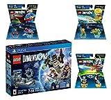 Lego Dimensions DC Comics Super Heroes Starter Pack + Superman + Batman + Aquaman Fun Packs Playstation 4 PS4