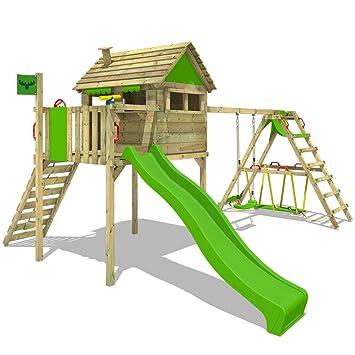 Gut bekannt FATMOOSE Spielhaus auf Stelzen FunFactory Fit XXL Spielturm XX24