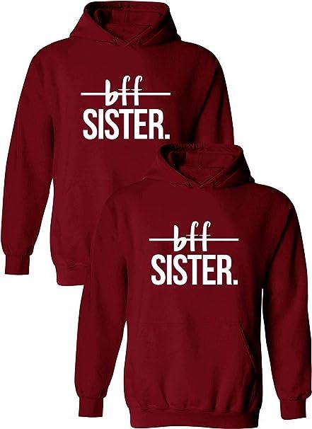 idea regalo calda Best Friends 1 pezzo da donna con cappuccio Friends Felpa con cappuccio per due ragazze
