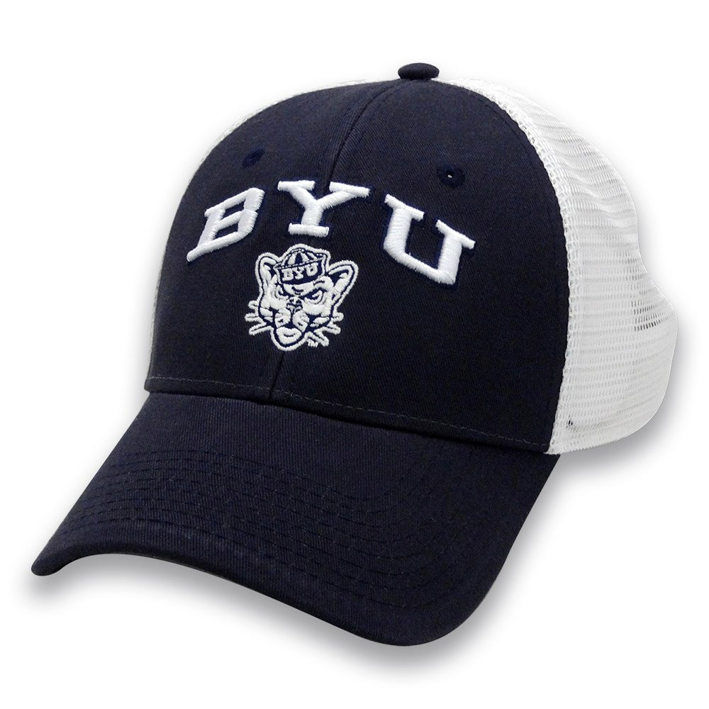 Adjustable Navy NCAA Byu Cougars Adult The Game Everyday Trucker Mesh Hat