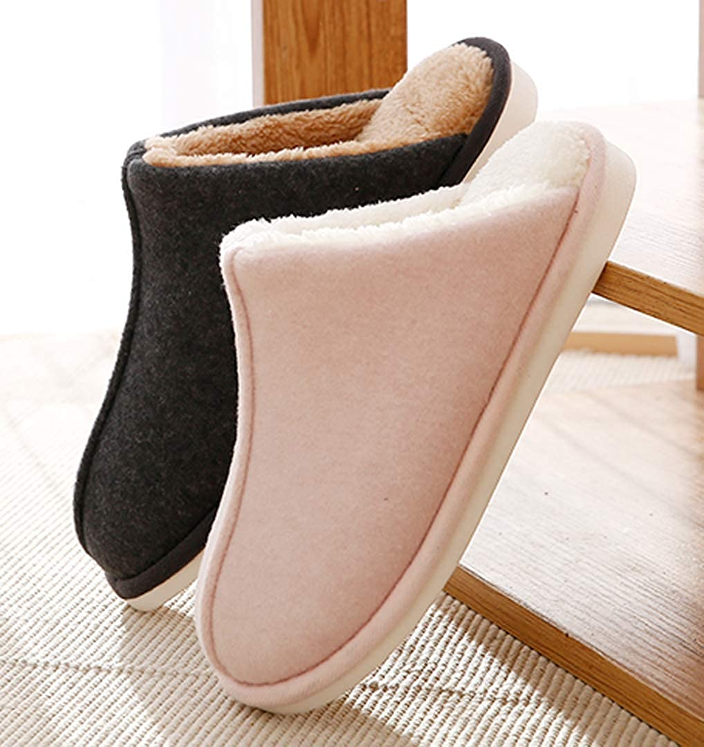 Cwait Mens Winter Warm House Shoes Indoor Outdoor Slippers