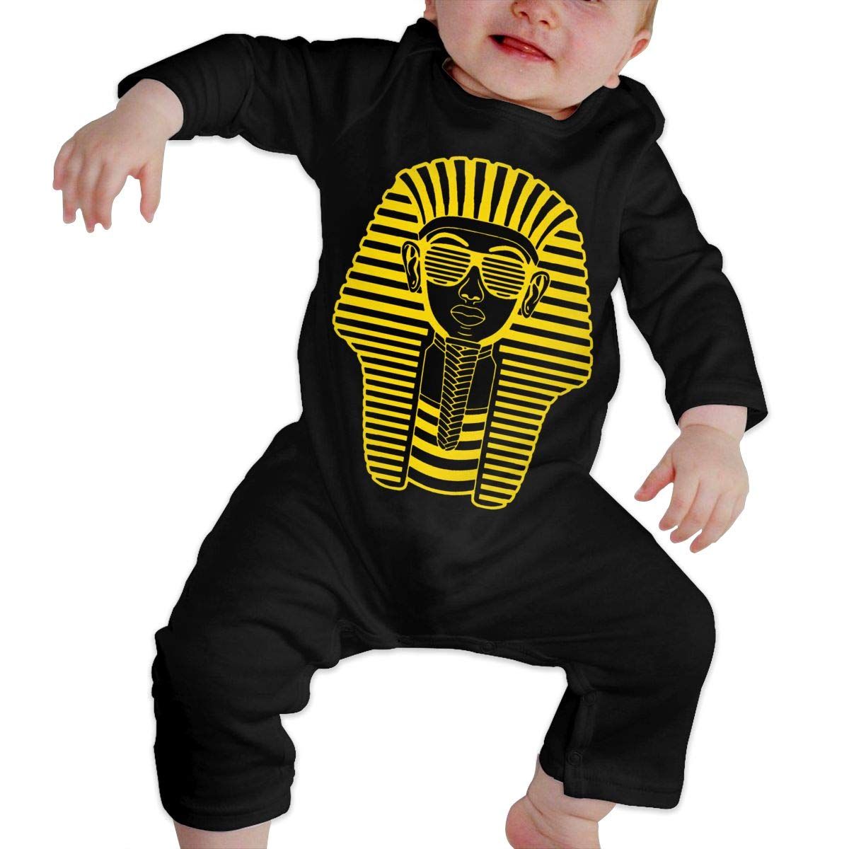 Fasenix Pharaoh of Egypt Printed Newborn Baby Bodysuit Long Sleeve Overalls Outfits Clothes Romper Jumpsuit for Baby Boy Girl