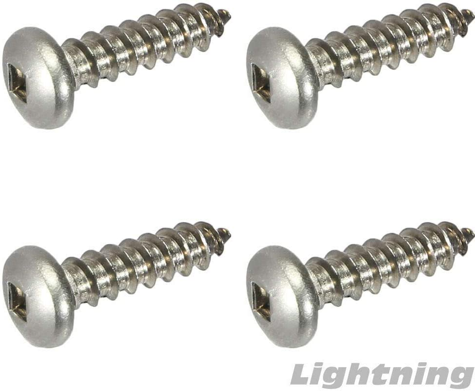 Square Drive Pan Head Sheet Metal Screws 316 Stainless Steel #8 X 1-1//4 Qty 500