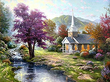 "Streams of Living Water by Thomas Kinkade 30"" x 40"" ... - Amazon.com: Streams Of Living Water By Thomas Kinkade 30"