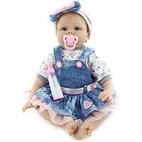 Perfecto BabyDoll La Linda Muñeca Reborn es el Mejor Regalo para los Niños Bebé Reborn Vestido de Mezclilla