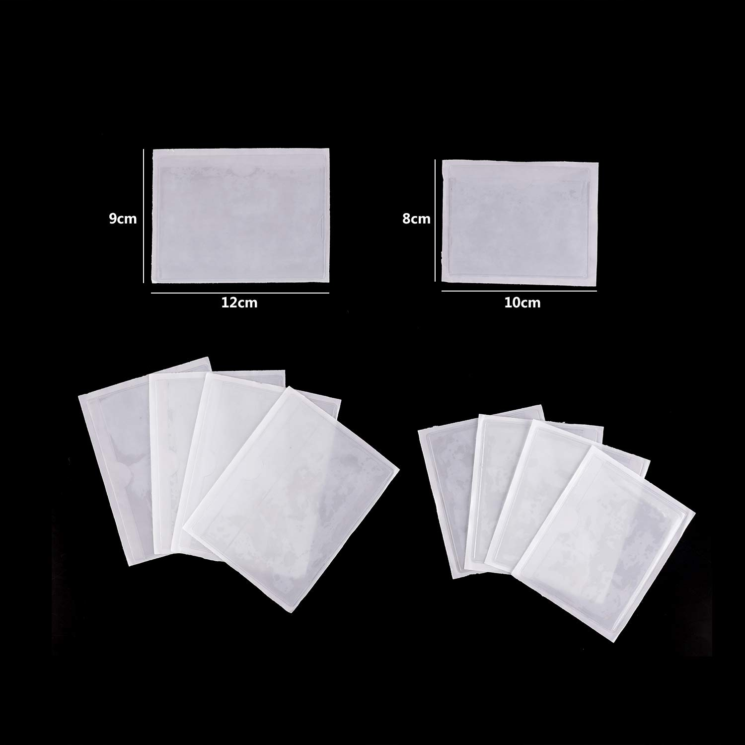 Self-Adhesive ID Badges Passports Holders Ticket and Note Pocket Pouches for Car Van Vehicle Caravan Windscreen 12 x 9 cm DesignerBox 15 Pack Parking Permit Holders