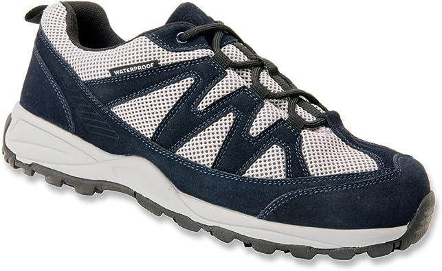 Waterproof Orthopedic Shoes Navy Suede