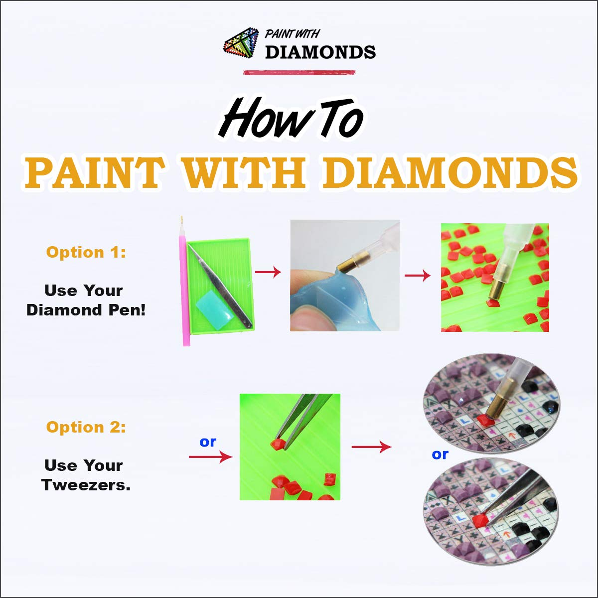 Diamond Painting Kits for Adults by Paint With Diamonds XL 60x40cm 'Eagle's Cry' Full Canvas Square Diamonds (Plus Free Premium Diamond Pen) by Paint With Diamonds (Image #7)