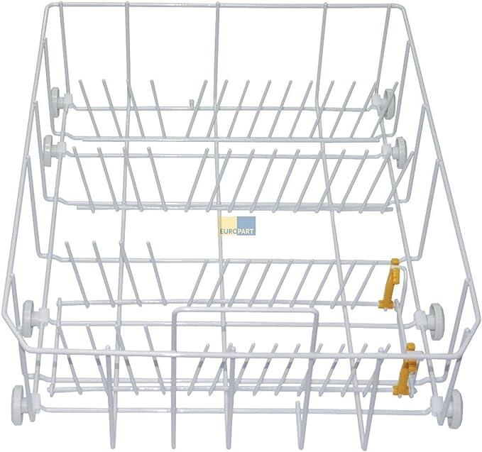 KG Miele 6024130 ORIGINAL Korbeinsatz klappbare Tellerablage Klappstachel Weiß für Unterkorb Geschirrkorb Unten Spülmaschine Geschirrspüler MIELE /& Cie