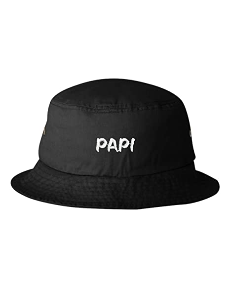 eace68504f532 One Size Black Adult Papi Embroidered Bucket Cap Dad Hat. Roll over image  to zoom in. Go All Out