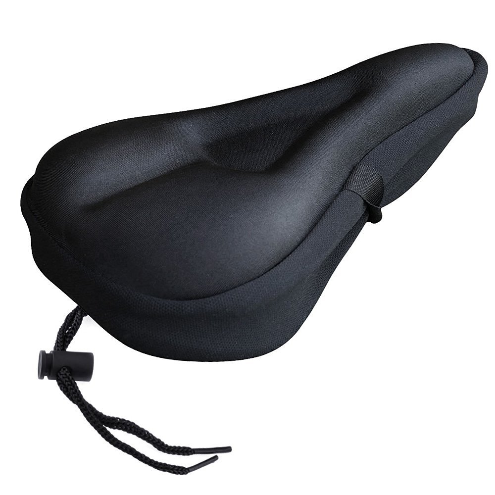Zacro Gel Bike Seat Cover- Extra Soft Gel Bicycle Seat – Bike Saddle Cushion with Water&Dust Resistant Cover