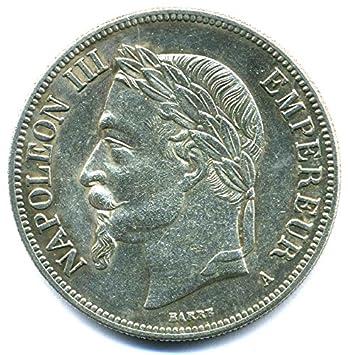 Münze 1865 A Frankreich 5 Francs Napoleon Iii Empire Française