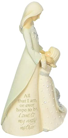 Foundations Mom with Daughter Stone Resin Figurine, 5.04