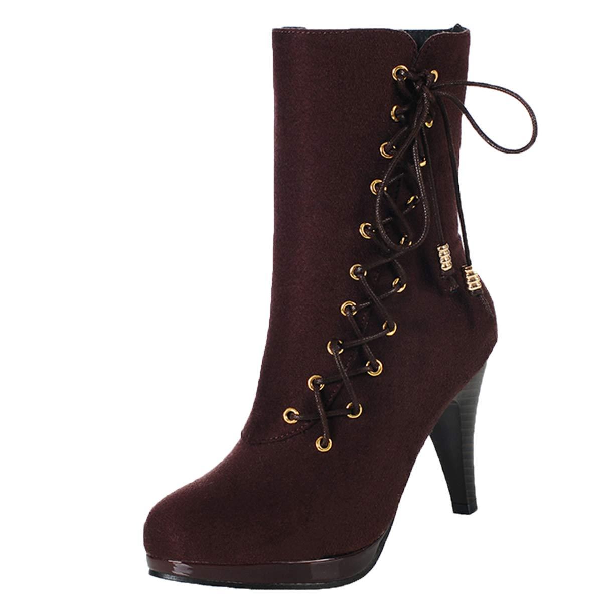 JYshoes , Bordeaux Femme Bottes Classiques , Femme Rouge Bordeaux 778e8e0 - reprogrammed.space