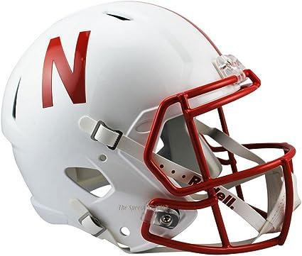 Nebraska Cornhuskers Silver Mask Officially Licensed Full Size XP Replica Football Helmet