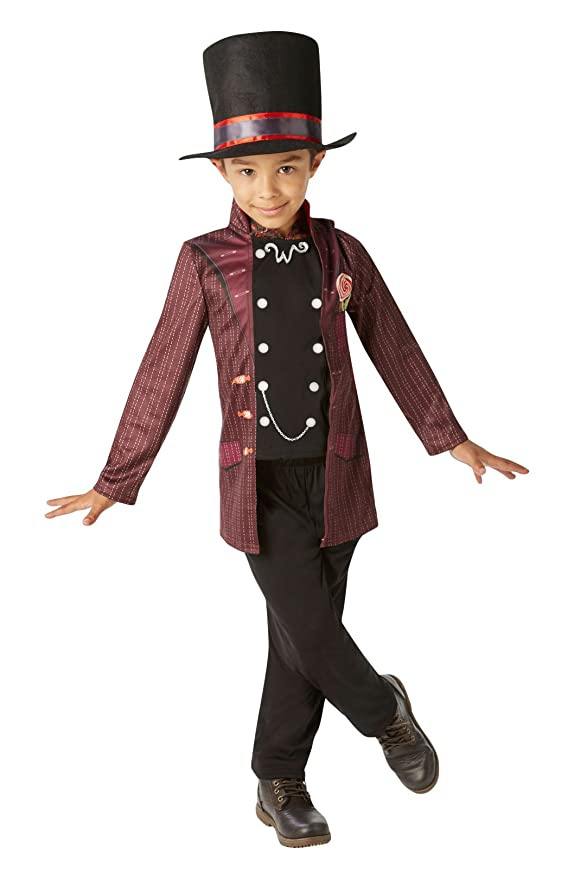 Willy Wonka - Charlie y la del chocolate Disfraz de fábrica de los niños - Medio - 116cm - Edad 5-6: Amazon.es: Juguetes y juegos