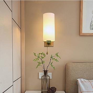 LampsWater Song Einfach Chinesisch Japanisch Lampen Wohnzimmer Schlafzimmer  Rundholz Holzwand Schalter Single Kopfbügel