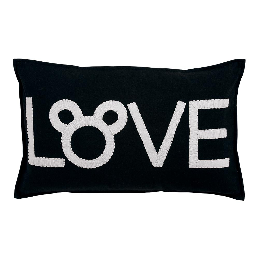 Ethan Allen Disney Mickey Mouse Love Pillow, Mickey's Ears Black