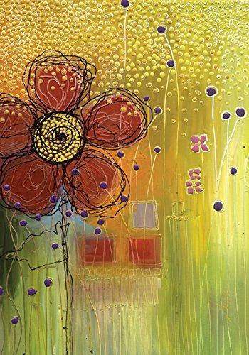 Toland Home Garden Flower Fizz 28 x 40 Inch Decorative Artistic Floral Design House Flag
