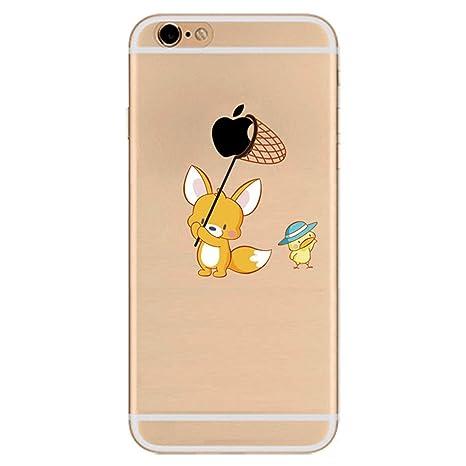 iPhone 6 Funda,iPhone 6s Funda,MUTOUREN TPU Transparente Funda Cubierta de Silicona de Ultra Delgado impresión de Estuche Carcasa Trasera para Apple ...
