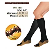 Fashion Comfortable Relief Soft Unisex Anti-Fatigue Compression Socks Knee High for Running Nurse Pregnancy Flight Circulation Recovery