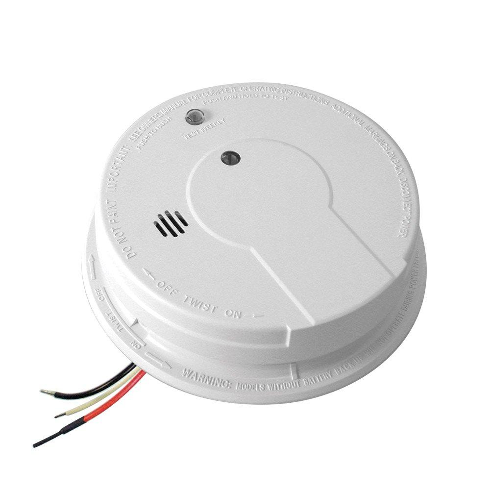 Kidde Hardwire Smoke Alarm with Hush Feature and Battery Backup ...