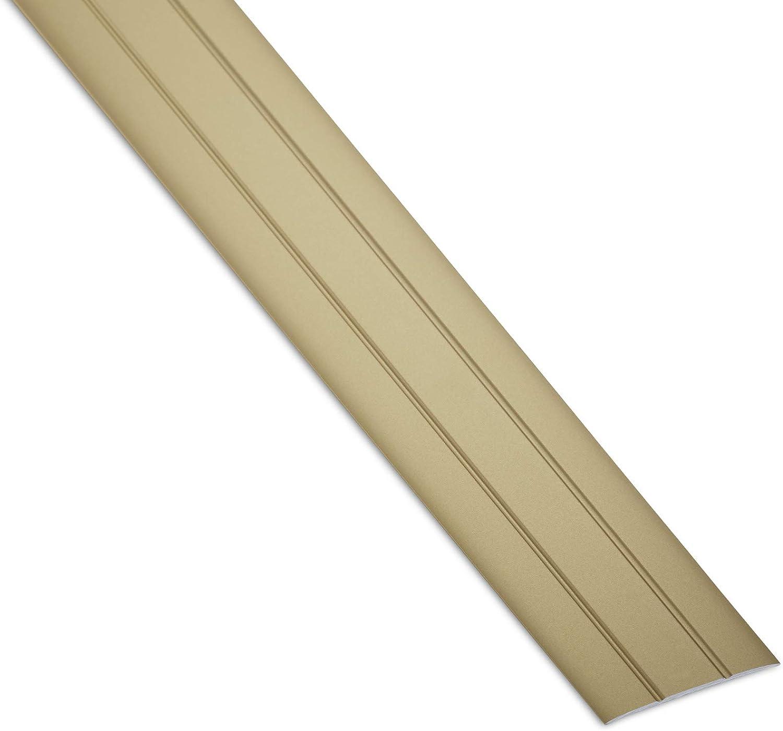 SOTECH 3 St/ück Aluminium /Übergangsprofile Cross selbstklebend /Übergangsschiene Alu flach Boden-Leiste mit Breite 37 mm Ausgleichsprofil Silber eloxiert Abdeckleiste 100 cm Bodenprofil Schiene