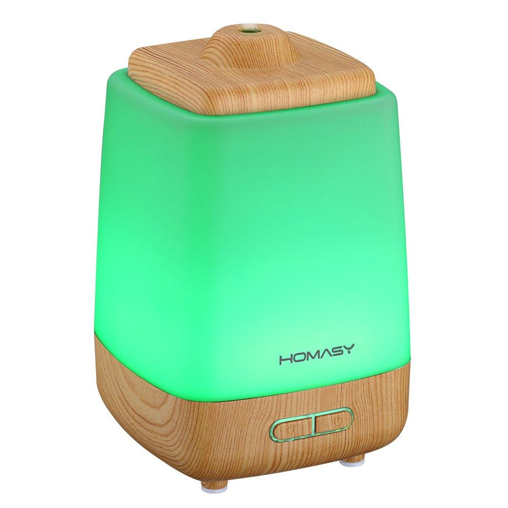 Amazon.com: Homasy 200ml Aroma Essential Oil Diffuser, Wood Grain ...