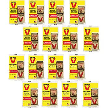 Victor 4 Pack Metal Pedal Mouse Trap bundle (64 Total Traps) M156