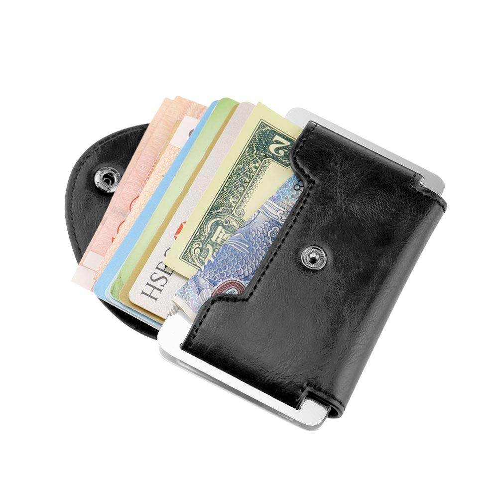 CTA Card Wallet,Slim Minimalist Credit Card Holder With RFID Block for Men