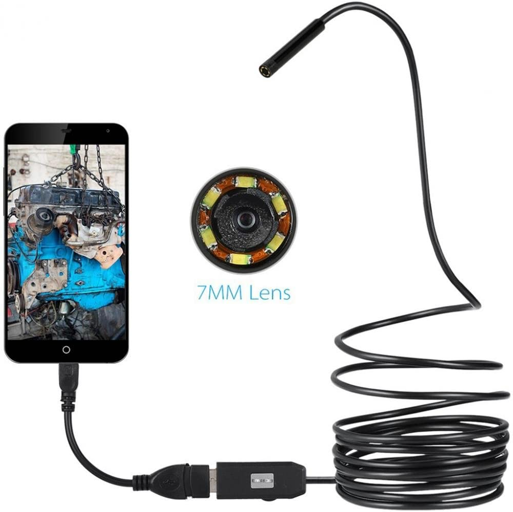 Yeshi 6led 7/ mm Objectif endoscope IP67/ /étanche c/âble USB Camera pour OTG smartphones