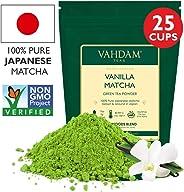 Vanilla + Matcha Green Tea Powder - Brew Delicious Vanilla Matcha Latte | Powerful SUPERFOODS Blend | Pure Japanese Matcha Po